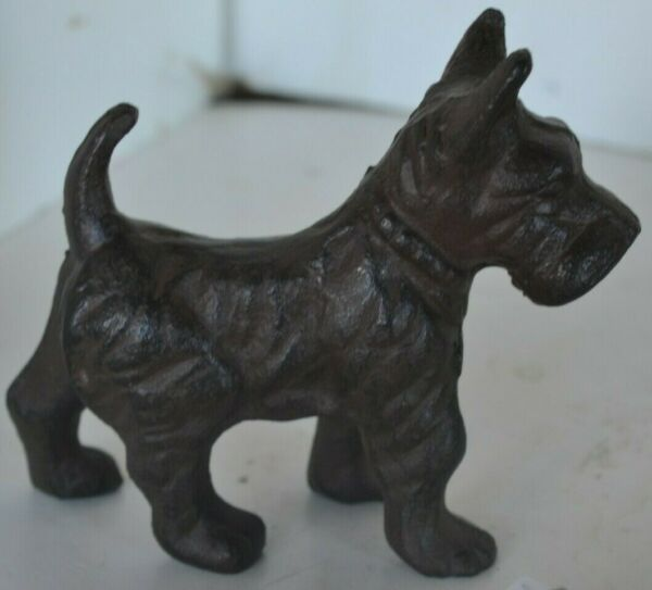 Vintage Cast Iron Metal Dog Scottie Figure $19.99