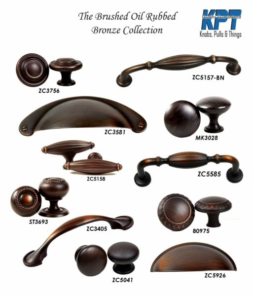 Knobs Handles Pulls Brush Oil Rubbed Bronze Collection Cabinet Hardware by KPT