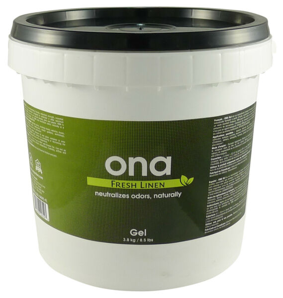 ONA Fresh Linen Gel 1 Gallon PAIL odor air neautralizer control crystal pro