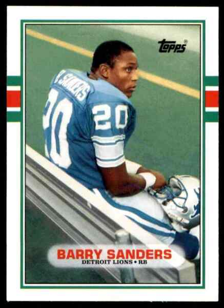 1989 Topps Traded Barry Sanders RC Lions #83T - Mint