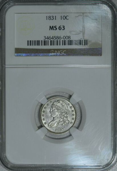 1831 NGC MS63 PQ++ Capped Bust Dime a BLAZING white lustrous near gem SWEET!