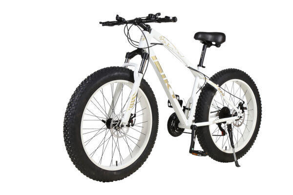 26quot; 21 Speed 4.0quot; Fat Tire Mountain Bike Snow Bicycle Front Fuspension White MTB $595.00