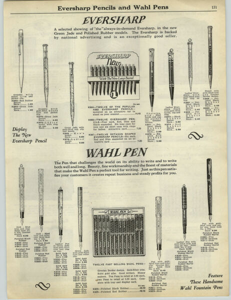 1927 PAPER AD 4 PG Eversharp Wahl Fountain Pen Store Display Eagle Lincoln
