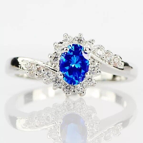 Gift New 925 Sterling Silver Irish Heart CZ Claddagh Promise Ring Size 5-11