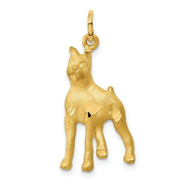 14k 14kt Yellow Gold Solid Polished BoXer Charm 30mm X 14mm $202.00