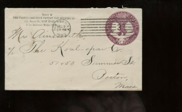 US Mid-Atlantic Advertising Cover (Franco-American Patent Can Opening Co) 1893