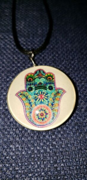 Hamsa Hand Evil Eye Luck Charm Necklace Pendant .