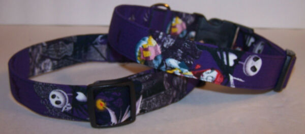 Wet Nose Designs Nightmare Before Christmas Dog Collar Made With NBC Fabric $8.99