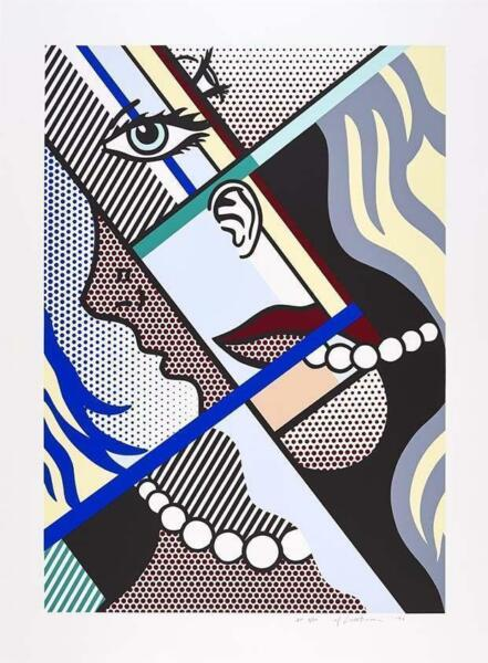 Roy Lichtenstein Modern Art I Screenprint 1966 hand signed and numbered