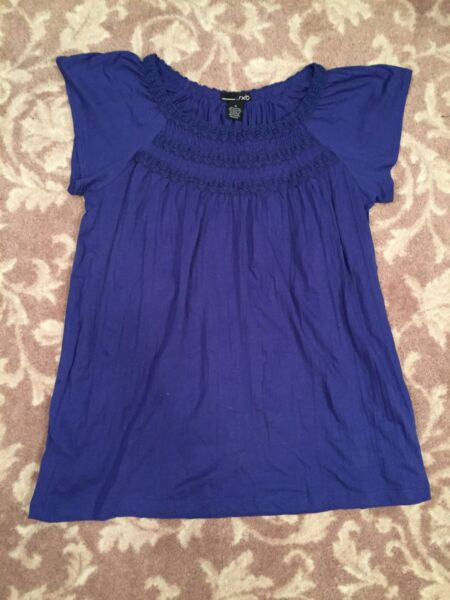 RXB womens twisted shirt PURPLE Medium