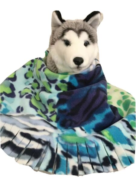 BLUE LEOPARD Fuzee Fleece Dog Blankets Soft Pet Blanket Travel Throw Cover $12.60