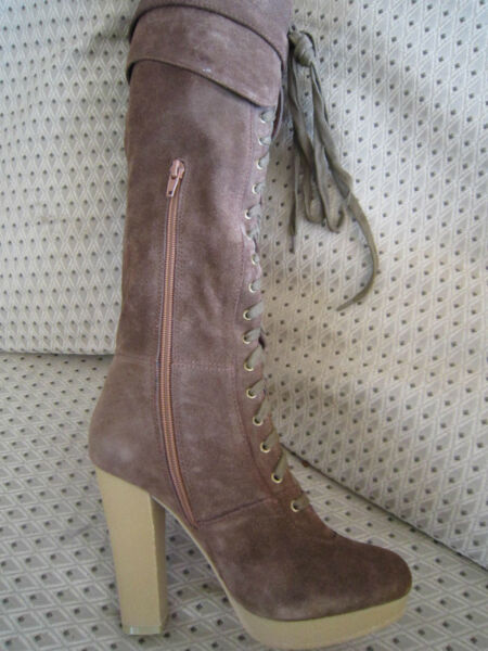 Deliciously Sexy !!! Chocolate Brown Suede CHARLES DAVID Boots !! sz 7