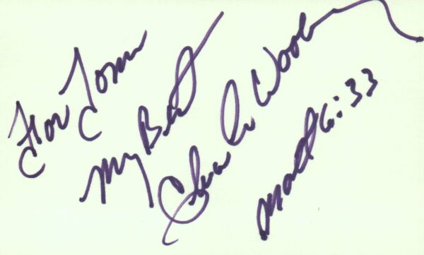 Chuck Woolery Actor Game Show Host 1977 TV Movie Autographed Signed Index Card
