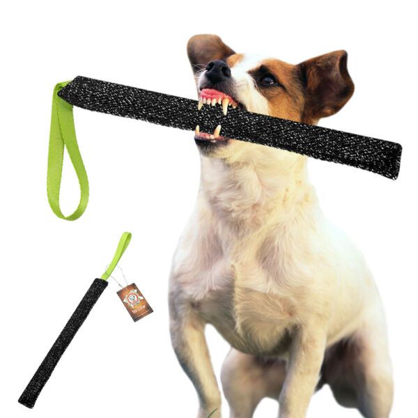 Jute Aggressive Dog Bite Tug with Handle Training Young K9 Police Chewing Toys