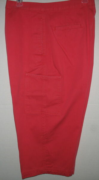 WILLI SMITH -  CORAL - 100% COTTON -  - CAPRI PANTS WITH CARGO POCKETS - 12