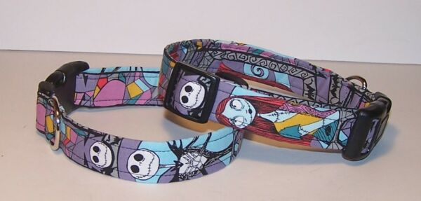 Wet Nose Designs Nightmare Before Christmas Dog Collar Made With NBC Fabric $7.99