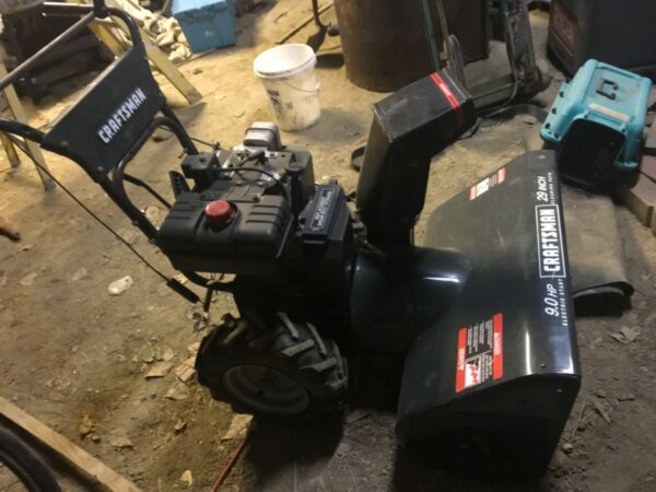 snow blowers used craftsman 29 in.