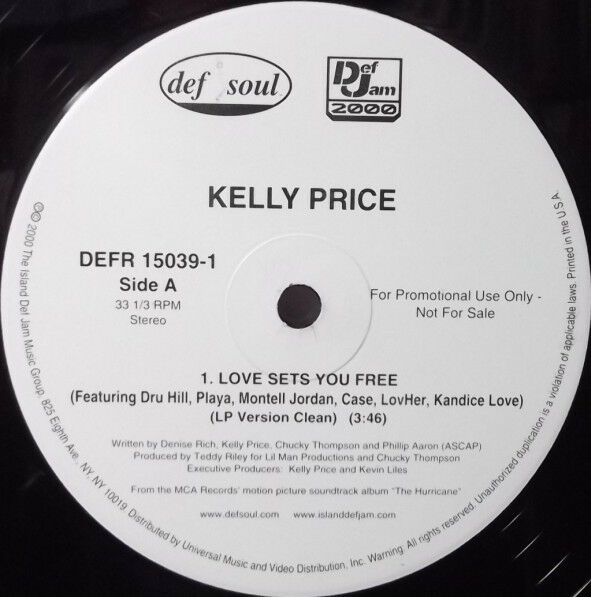 Kelly Price ‎– Love Sets You Free Format: Vinyl 12quot; 33 ⅓ RPM Promo $9.99