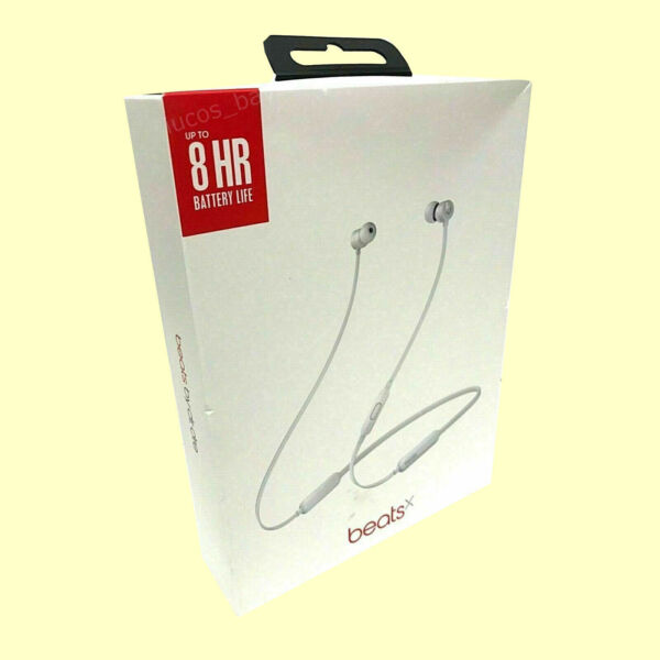 New BeatsX MTH62LLA In-ear Beats X Bluetooth Headphones Silver Free Fast Ship