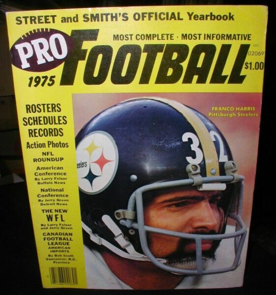 Pro Football 1975-Franco Harris Cover~Street & Smith Official Yearbook