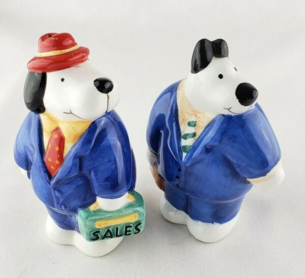 Dog Business SalesPerson Coco Dowley Salt amp; Pepper Shakers Never Used $12.95