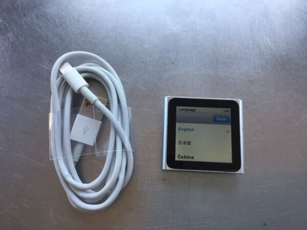Apple iPod nano 6th Generation Blue (8 GB) PERFECT SCREEN NEW BATTERY