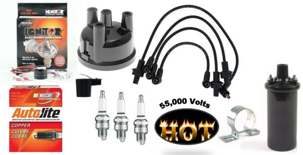 Electronic Igntion Kit Hot Coil & Tune up Kit Ford 3 Cylinder Gas Tractor