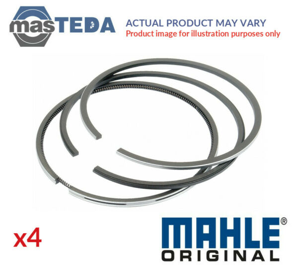 4x MAHLE ORIGINAL ENGINE PISTON RING SET 001 92 N0 I STD NEW OE REPLACEMENT