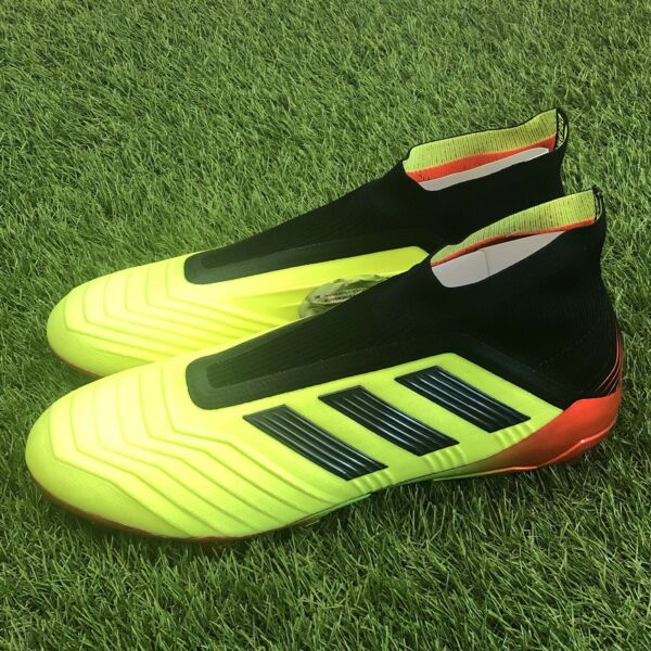 New Adidas Predator 18+ FG Size 8 Soccer Cleats Solar Yellow Black Red DB2010