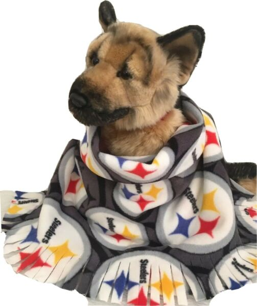 STEELERS CIRCLES Fuzee Fleece Dog Blankets Soft Pet Blanket Travel Throw $14.40