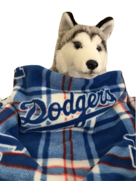 LA DODGERS Fuzee Fleece Dog Blankets Soft Pet Blanket Travel Throw Cover $18.00