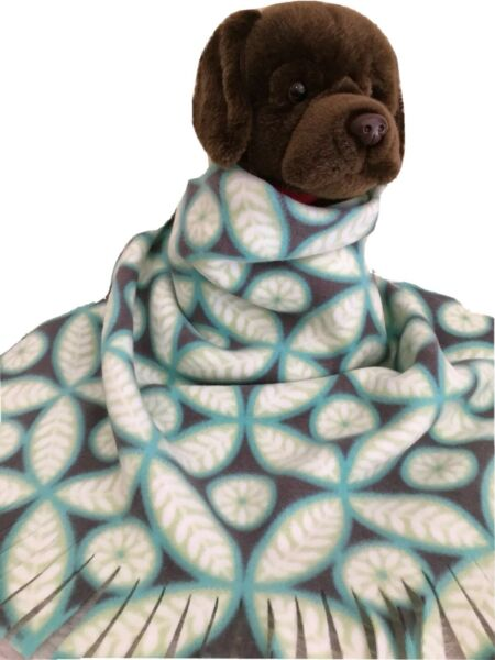 LEAFS BLUE GREEN Fuzee Fleece Dog Blankets Soft Pet Blanket Travel Throw Cover $14.40