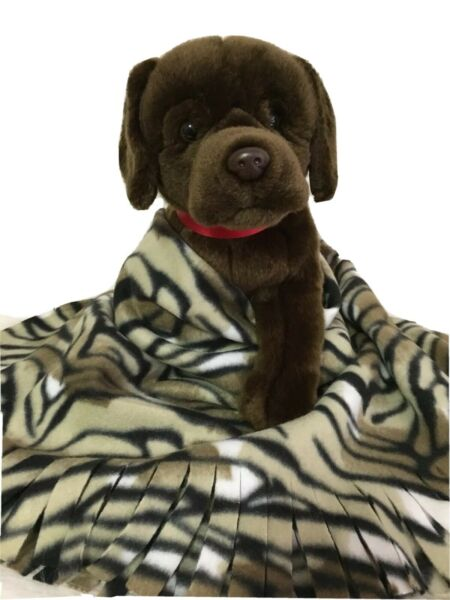 TIGER Fuzee Fleece Dog Blankets Soft Pet Blanket Travel Throw Cover $14.40