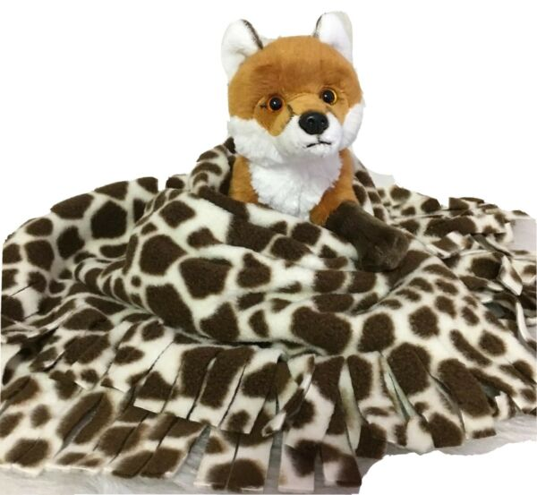 GIRAFFE Fuzee Fleece Dog Blankets Soft Pet Blanket Travel Throw Cover $12.60
