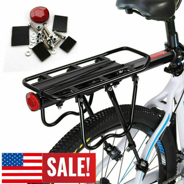 Bicycle Mountain Bike Rear Rack Seat Post Mount Pannier Luggage Carrier Max 60kg