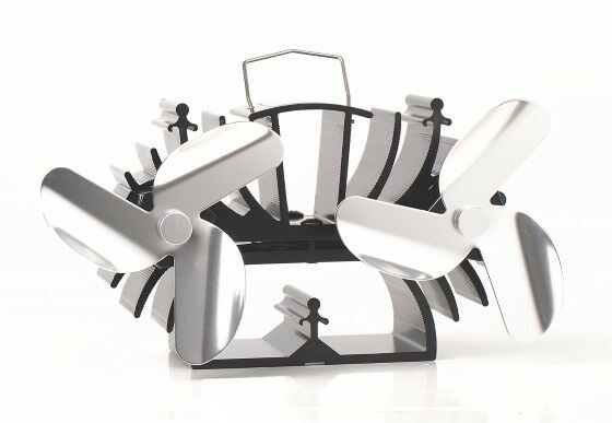 6 Blades Heat Powered Stove Fan Specially Designed for Small Space Wood Burners