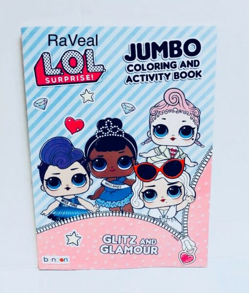 LOL Surprise Dolls Glitz and Glamour Jumbo Coloring and Activity Book