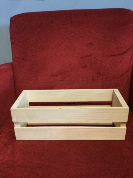 CD holder wooden crates set of 5 holds CD's 6 by 15 by 5 excellent condition