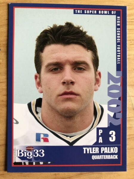 Tyler Palko 2002 Big 33 West Allegheny High School PITT PANTHERS