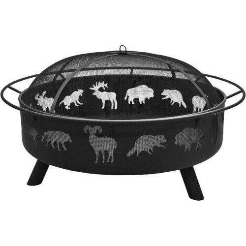 NEW Landmann 28915 Super Sky Fire Pit Wildlife Black Wood Fireplace