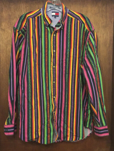 The most 90s Vintage Tommy Hilfiger Button Shirt Medium Tommy for your mommy FLY $99.99