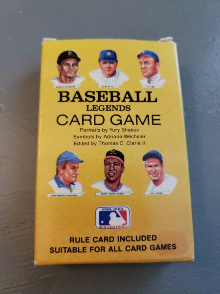Vtg Baseball Legends Card Game 1991 Red Sox Cy Young Babe Ruth Yankees Unplayed