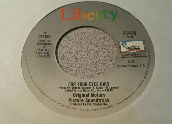 Sheena Easton – For Your Eyes Only $1.99