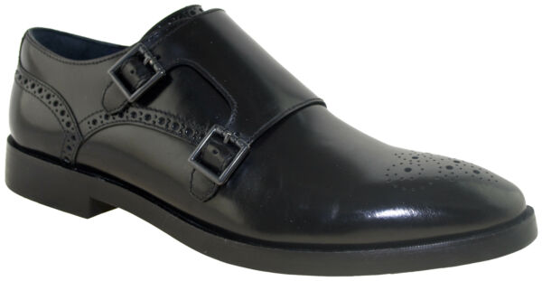 Cole Haan Men#x27;s Hamiton Grand Double Monk Oxford Black Style C26051 $94.99