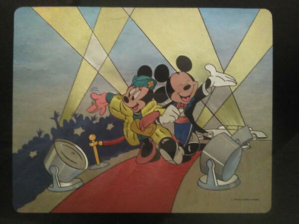 Very Rare Metallic foiled Disney Mickey Mouse and Minnie on the Red Carpet