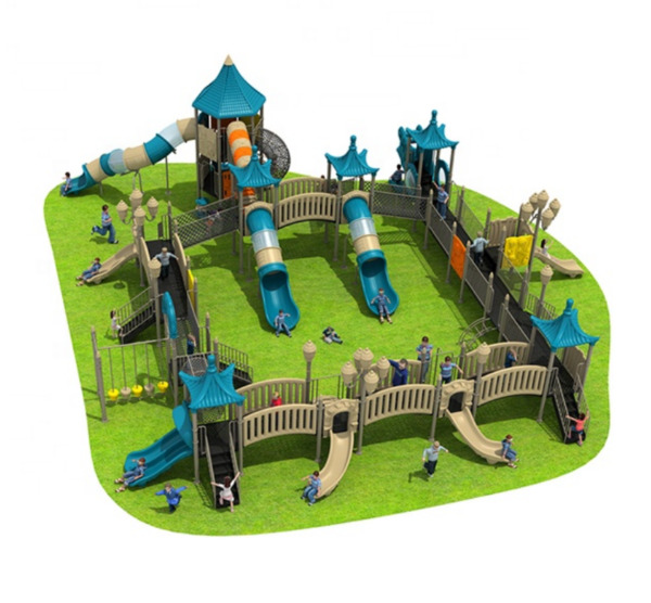 60x65x25 Outdoor Playground ASTM Commercial Playset Equipment Slide We Finance
