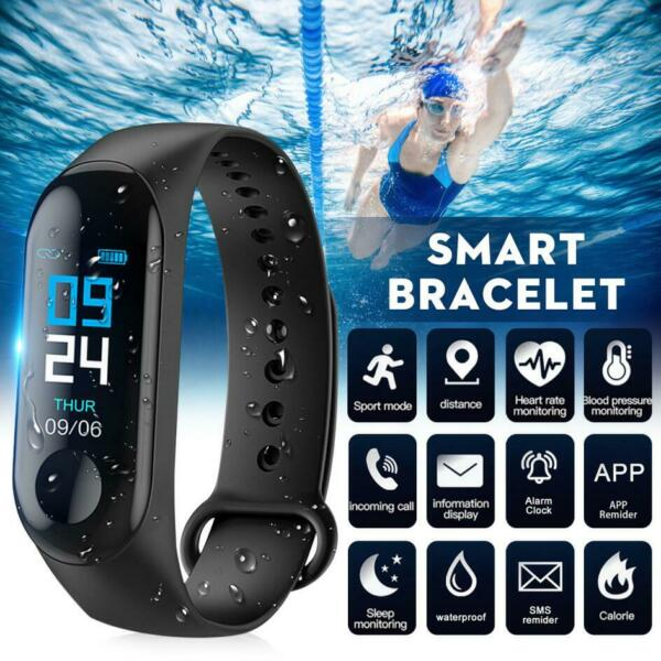 Smart Watch Blood Pressure Heart Rate Monitor Bracelet Wristband for iOS Android $5.39