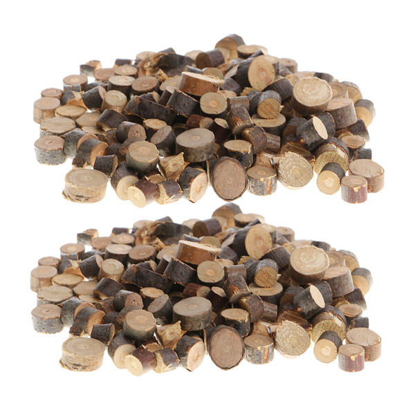 200set Wood Tree Slices Rustic Wedding Table Crafts Natural Logs Decorations