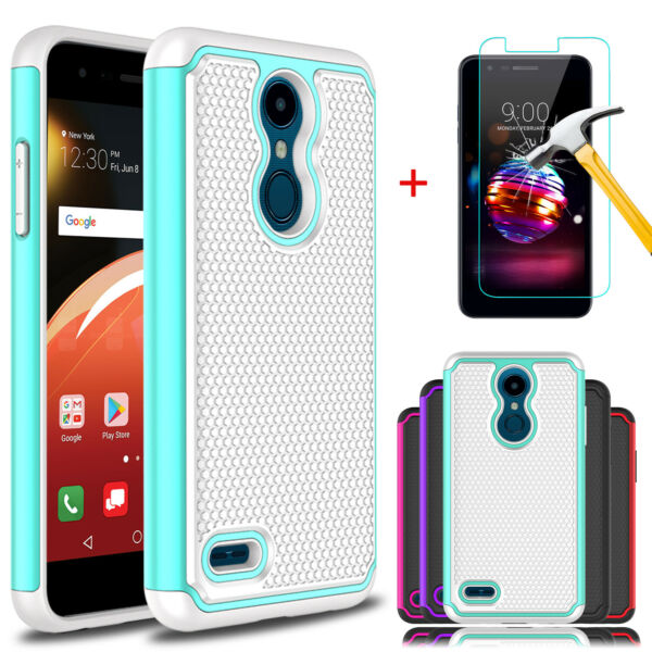 For LG K30 2018Premier Pro LTEPhoenix Plus Shockproof Case + Screen Protector
