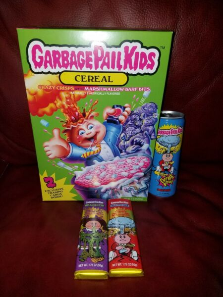 Garbage Pail kids Cheap Cereal Candy Bar Energy Drink Lot
